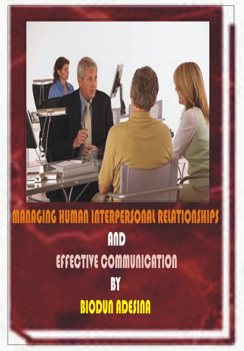managing interpersonal relationships Recent ideas on emotional intelligence and servant-leadership have identified  the quality of interpersonal relationship as a key factor affecting management and .